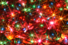 Blurred twinkling lights Stock Photography