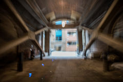 Blurred underground passage Royalty Free Stock Photos