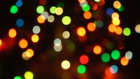 Blurred unfocused background with lights. Blurred unfocused background with blinking lights at black background stock footage
