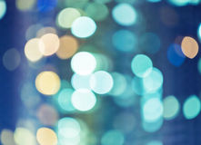 Blurred unfocused city light. At night Stock Photography
