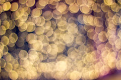 Blurred unfocused city light. The blurred unfocused yellow in city light Stock Image