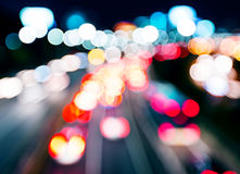 Blurred unfocused highway view Stock Photos