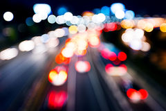 Blurred unfocused highway view Stock Images