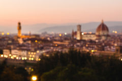 Blurred unfocused panoramic view to the river Arno Royalty Free Stock Images