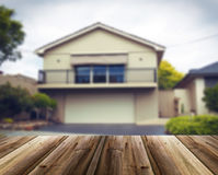 Unfocused picture of house Stock Photos