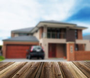 Unfocused picture of house Stock Image