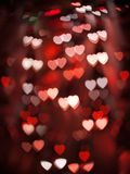 Blurred Unfocussed Multicolor Lights in the Shape of Heart. In the night city Stock Photos