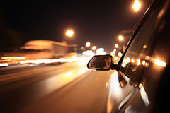 Blurred urban look of the car Stock Photo