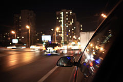 Blurred urban look of the car Stock Photography
