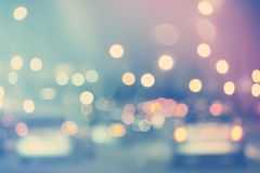 Blurred urban traffic background scene Royalty Free Stock Photo