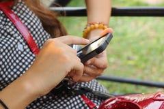 Blurred using smart phone Stock Image