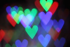 Blurred valentine background with heart Stock Photography