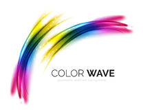 Blurred vector wave design elements Stock Photography