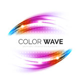 Blurred vector wave design elements Stock Photos