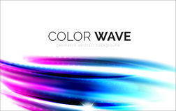 Blurred vector wave design elements Royalty Free Stock Photos