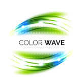 Blurred vector wave design elements Royalty Free Stock Images