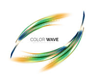 Blurred vector wave design elements Stock Photo