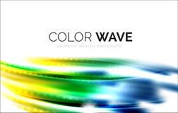 Blurred vector wave design elements Stock Photos