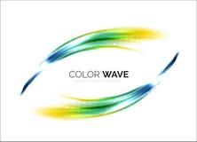 Blurred vector wave design elements Stock Images