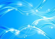 Blurred vector waves Royalty Free Stock Photography