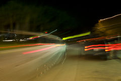 Blurred Vehicle Lights stock images