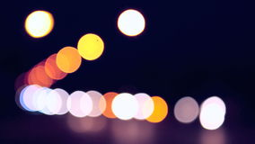 Blurred vehicle lights stock footage