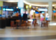 Blurred view of the cafe stock photography
