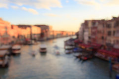 Blurred view on canal grande vom Rialto bridge in Venice Stock Images