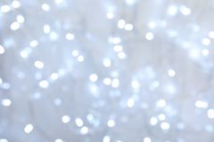 Blurred view of Christmas lights as background. Blurred view of glowing Christmas lights as background stock photo
