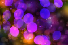 Blurred view of glowing Christmas lights as background. royalty free stock photography