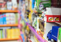 Kids store with toys. Stock Images