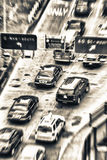 Blurred view of New York traffic. Street from above Royalty Free Stock Photo
