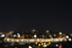 Blurred view of the night lights of the city Stock Image