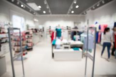 Free Blurred View Of Clothing Store Stock Image - 163226541