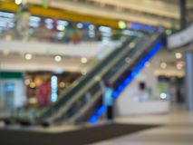 Blurred view of the shopping center . stock photography