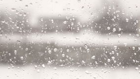Blurred view from the window. With raindrops stock video footage