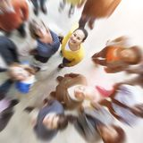 Blurred vision of diverse people royalty free stock photo