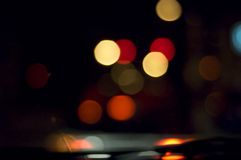 Blurred vision while driving royalty free stock images