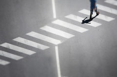 Blurred vision road crossing Royalty Free Stock Image
