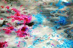 Blurred vivid pastel burnt spots, abstract watercolor pastel hues. Pastel sparkling blurred burnt spots, playful shapes in pastel vivid hues are placed on Stock Photo