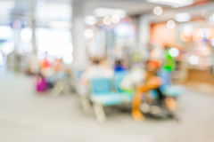 Blurred waiting chairs zone in airport,use as background Stock Photo