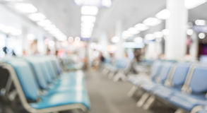 Blurred waiting chairs zone in airport,use as background Stock Photography