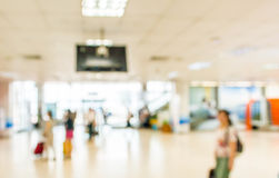 Blurred waiting  zone in airport,use as background Stock Photo