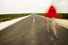 Blurred Walking Man Stock Images