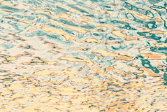 Blurred water waves and reflections. Royalty Free Stock Photography