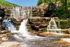 Blurred waterfall cascade Royalty Free Stock Photo