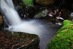 Blurred waterfall stream Royalty Free Stock Photography