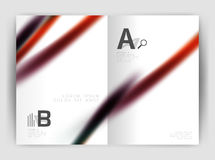 Blurred wave line. Business annual report abstract background Stock Image