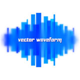 Blurred waveform made of lines Stock Image