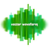 Blurred waveform made of lines Royalty Free Stock Photo